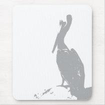 Brown Pelican Birds Wildlife Animals Mouse Pad