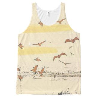 Brown Pelican Birds Wildlife Animals Wetlands All-Over Print Tank Top