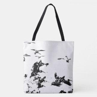 Brown Pelican Birds Wildlife Beach Tote Bag