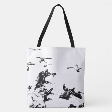 Beach Themed Brown Pelican Birds Wildlife Beach Tote Bag