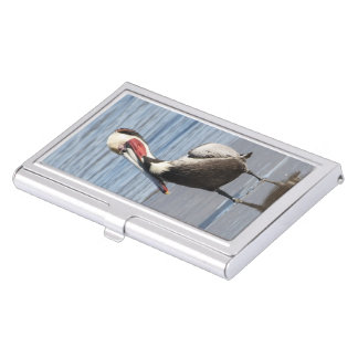 Brown Pelican business card holder