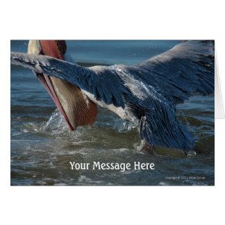 Brown Pelican extreme closeup 2 Greeting Card