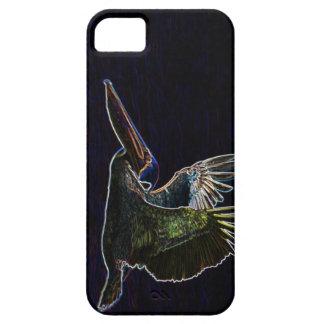 Brown Pelican in Neon iPhone 5 Case