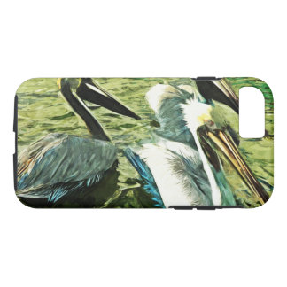 Brown Pelican in Winter Colors Abstract Impression iPhone 7 Case