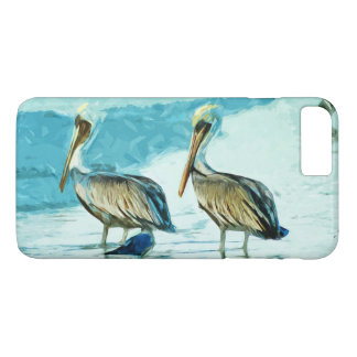 Brown Pelican in Winter Colors Abstract Impression iPhone 8 Plus/7 Plus Case
