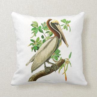 Brown Pelican John James Audubon Birds of America Throw Pillow