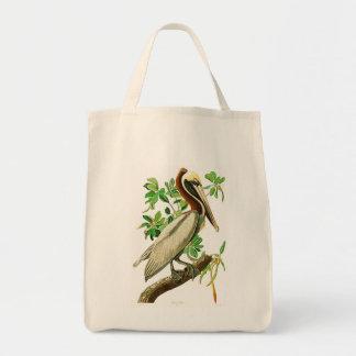 Brown Pelican John James Audubon Birds of America Tote Bag