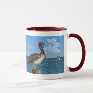 Brown Pelican on a Post Mug