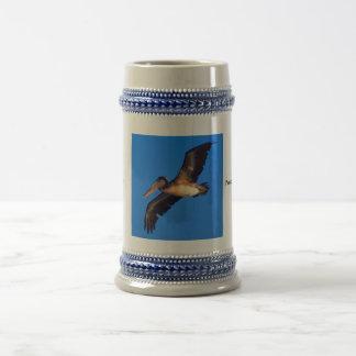 Brown Pelican (Pelecanus occidentalis) Beer Stein