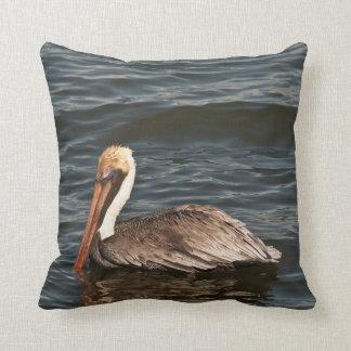 Brown pelican (Pelecanus occidentalis) Throw Pillow