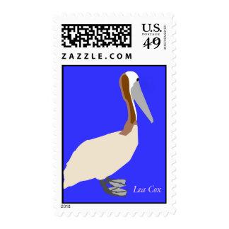 Brown Pelican Postage Stamp