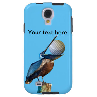 Brown Pelican with Golf Ball Customizable Galaxy S4 Case