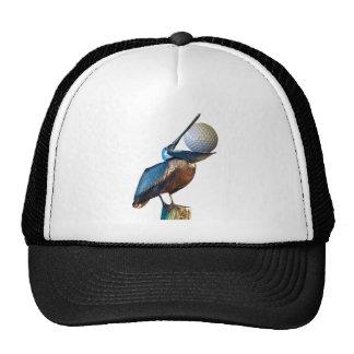Brown Pelican with Golf Ball Trucker Hat