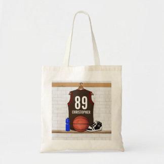 Brown personalizado y jersey rojo del baloncesto bolsa tela barata