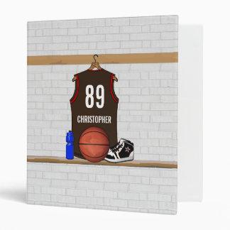 """Brown personalizado y jersey rojo del baloncesto carpeta 1"""""""