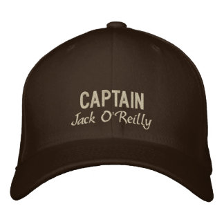 Brown Personalized Captain's Embroidered Hat