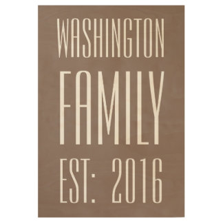 Brown Personalized Family Name Poster Wood Poster