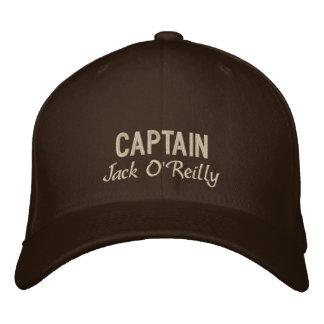 Brown personalizó a Embroidered Hat de capitán Gorra De Béisbol