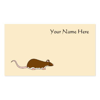 Brown Pet Rat Berkshire White Belly Business Card Template