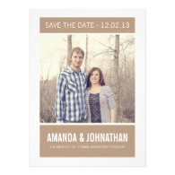 Brown Photo Save The Date Announcements