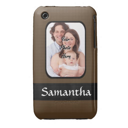 Brown photo template iPhone 3 covers
