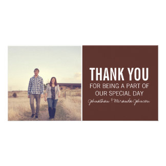 Brown Photo Thank You Cards