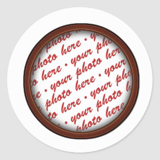 Brown Picture Frame for Any Occasion Classic Round Sticker