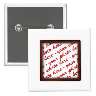 Brown Picture Frame for Any Occasion Pinback Button