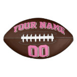 BROWN PINK AND WHITE Custom Football