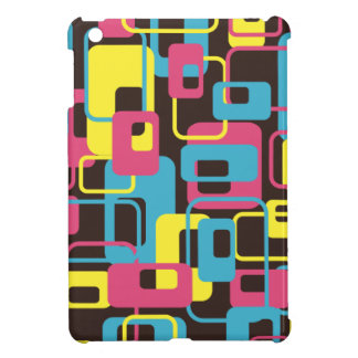 Brown Pink Blue Yellow Retro Squares 60s Shapes Cover For The iPad Mini