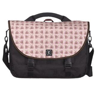 Brown pink cute ladybugs laptop bag