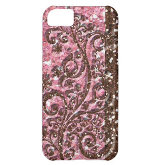 Brown Pink Glittery Sparkle Cover For iPhone 5C