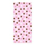 Brown & Pink Polka Dots Rack Card