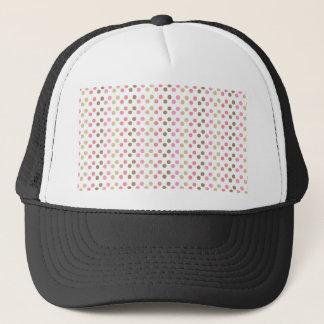 Brown & Pink Polka Dots Trucker Hat