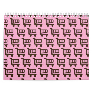 brown pink shopper calendar