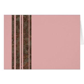 Brown & Pink Stripe Notecard