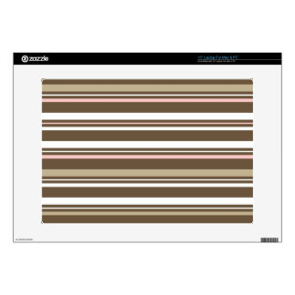 Brown & Pink Striped Laptop Skin