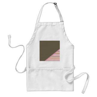 Brown & Pink Stripes Adult Apron