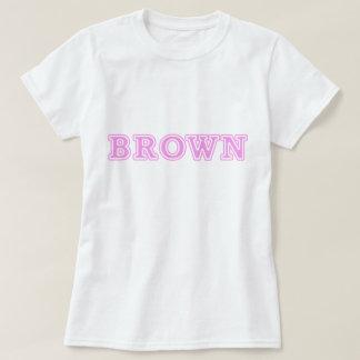 BROWN (PINK) TEE SHIRT