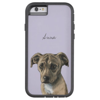 Brown Pit Bull Puppy Drawing Tough Xtreme iPhone 6 Case