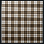 "Brown Plaid Napkin<br><div class=""desc"">Cute brown gingham plaid pattern.</div>"