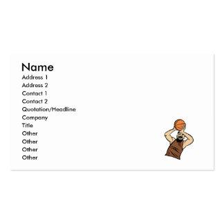 Brown player shooting ball business card