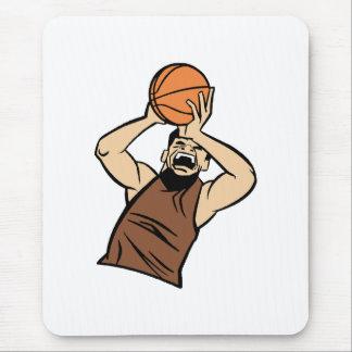 Brown player shooting ball mouse pad