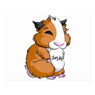 Brown Plooshkin Hamster Postcard