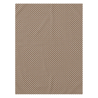 Brown polka dot pattern dining tablecloth