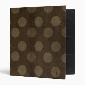 Brown Polka Dots Big with Crease Faded 3 Ring Binder