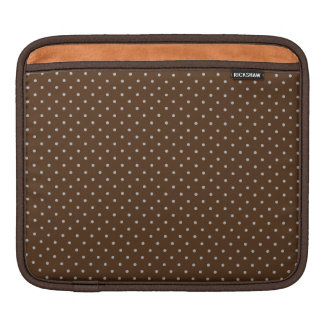 Brown polka dots fun pattern iPad Sleeve