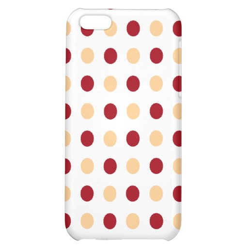 Brown Polka Dots iPhone 5C Cases