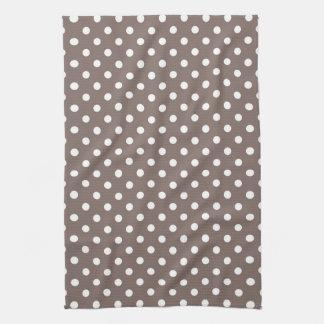 Brown Polka Dots Kitchen Towels