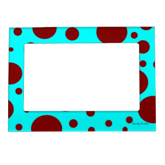 Brown Polka Dots Magnetic Photo Frame